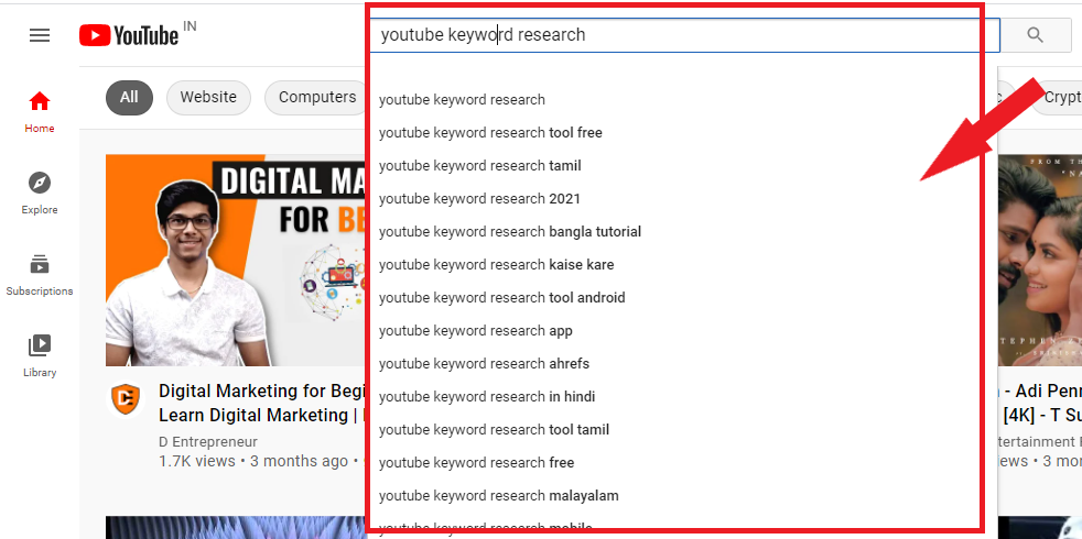 free youtube keyword research tool